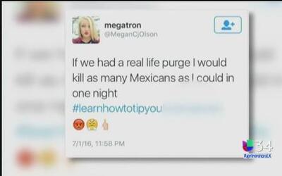 Mesera es despedida por publicar mensaje en contra de los mexicanos