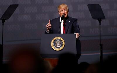 Trump, el primer presidente en dar un discurso ante la Asociación Nacion...
