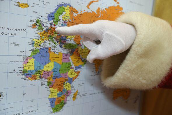 En el mapa Santa señala dónde tendrá que entregar regalos, según las car...