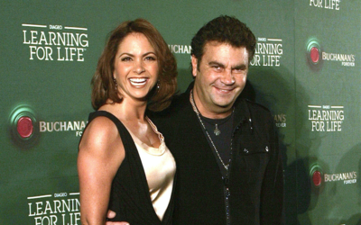 Lucero y Mijares en un concierto de Sting en mayo de 2010.