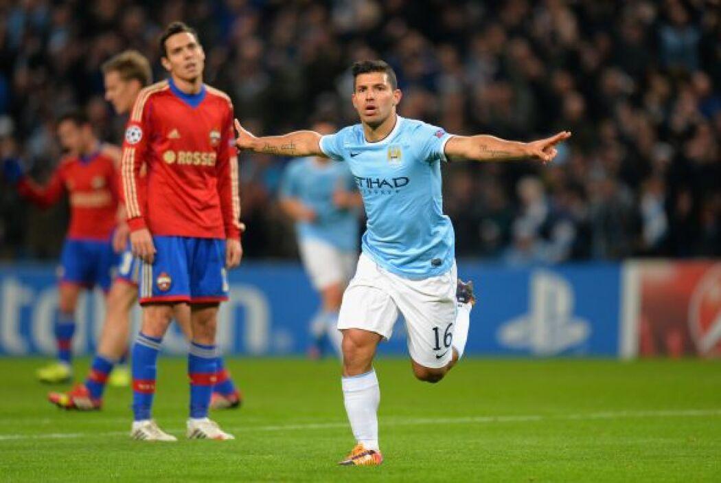 Sólo se cumplían tres minutos y el argentino Sergio Agüero inauguraba el...