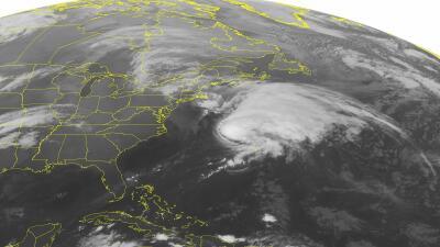 Imagen satelital del huracán Kate
