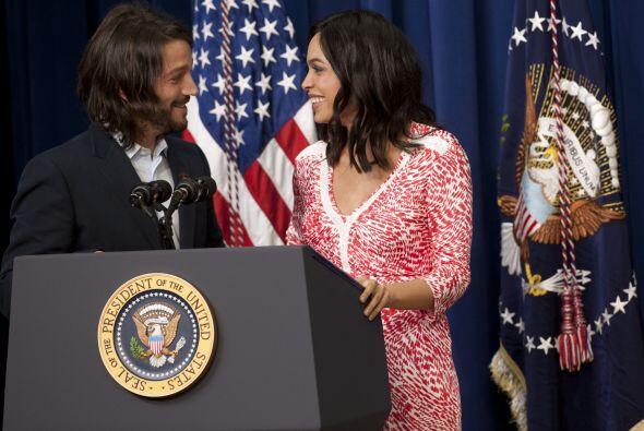 Ahora la novedad fue que el elenco y el directo visitaron la Casa Blanca...