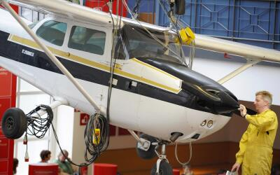 Un modelo de la avioneta Cessna 172 en una imagen de archivo