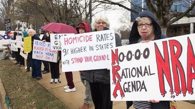 Protesta contra la NRA