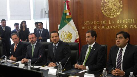 Luis Videgaray Caso, secretario de Relaciones Exteriores, sostuvo una re...