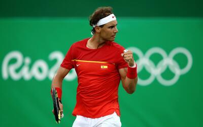 Rafael Nadal avanzó sin problemas en Río 2016.