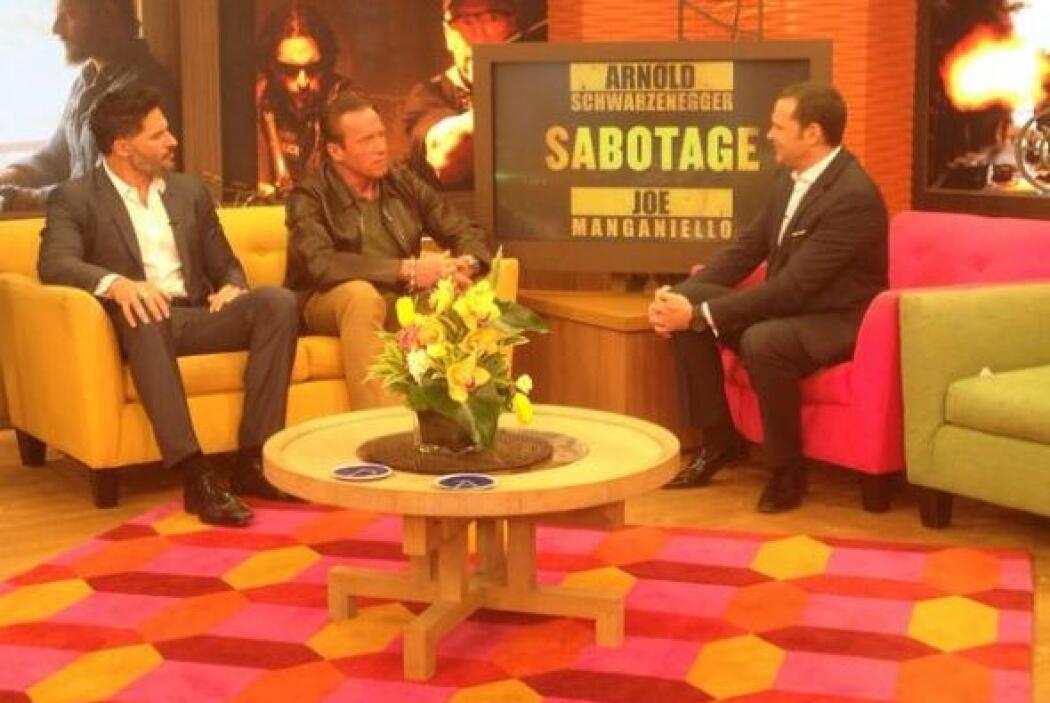 """""""La pasamos increible en @DespiertaAmeric con @Schwarzenegger estuvo muy..."""