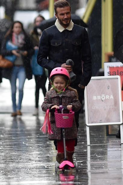 David Beckham tuvo un tierno momento entre padre e hija.