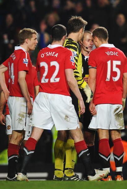 Pero en los minutos finales se marcó un penalti en contra de los visitan...