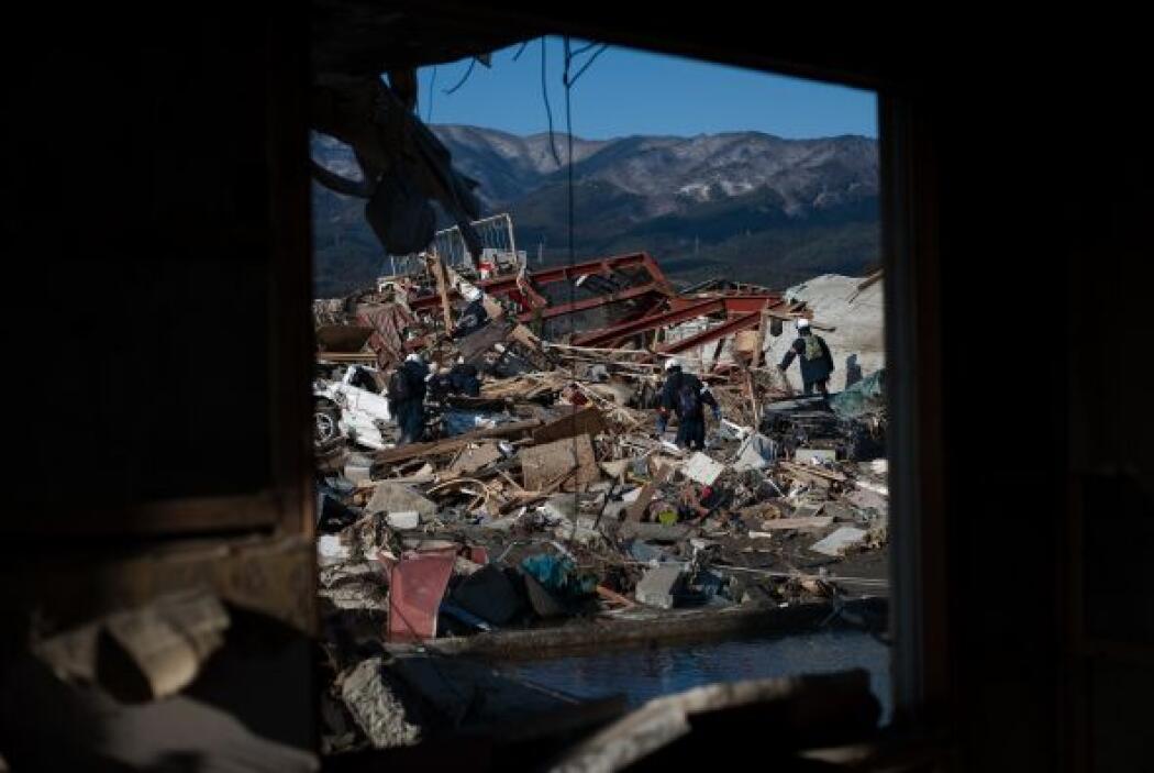 Existe la probabilidad de que la fuerza masiva del tsunami haya arrojado...