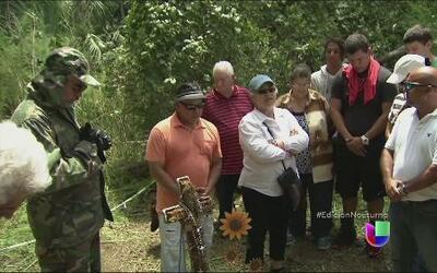 Familiares visitaron el sitio donde fue hallado el cuerpo de Christian A...