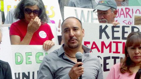Arturo Hernández, un inmigrante indocumentado que se refugi&oacut...