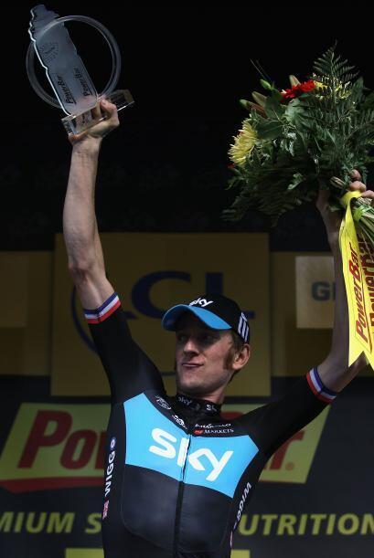 Wiggins, de 32 años de edad, ganó por primera vez en su carrera una etap...