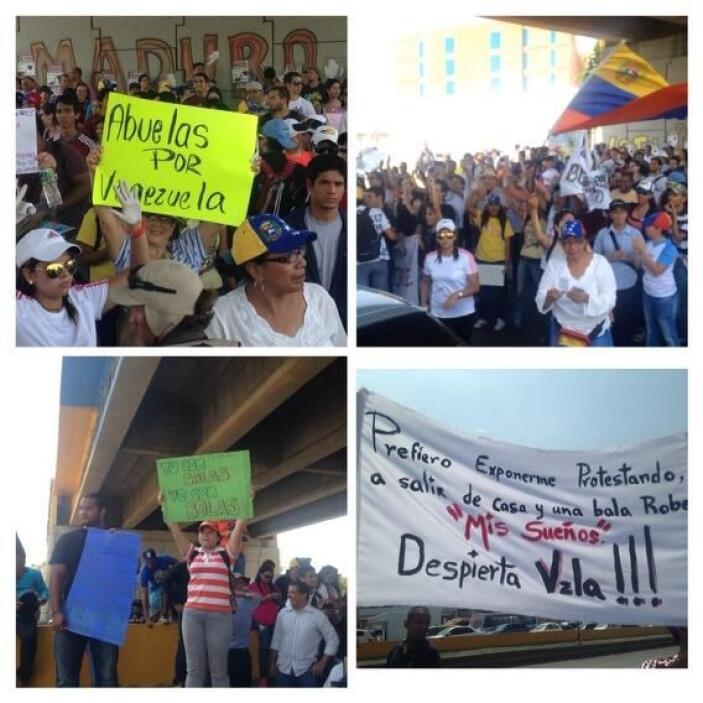 La usuaria MaríaG_rsVV publicó el viernes cuatro fotografías de manifest...