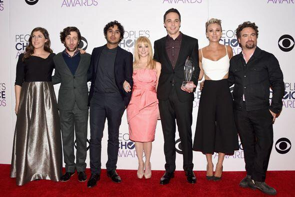 El reparto de 'The Big Bang Theory' en la sala de prensa.