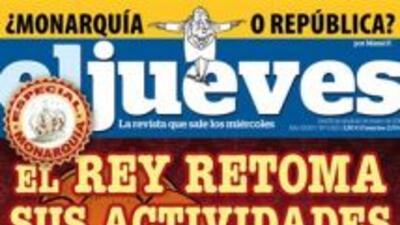 La revista de sátira Jueves dedicó su portada a la monarquía española (I...