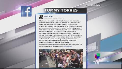 Tommy Torres revela que fue homofóbico