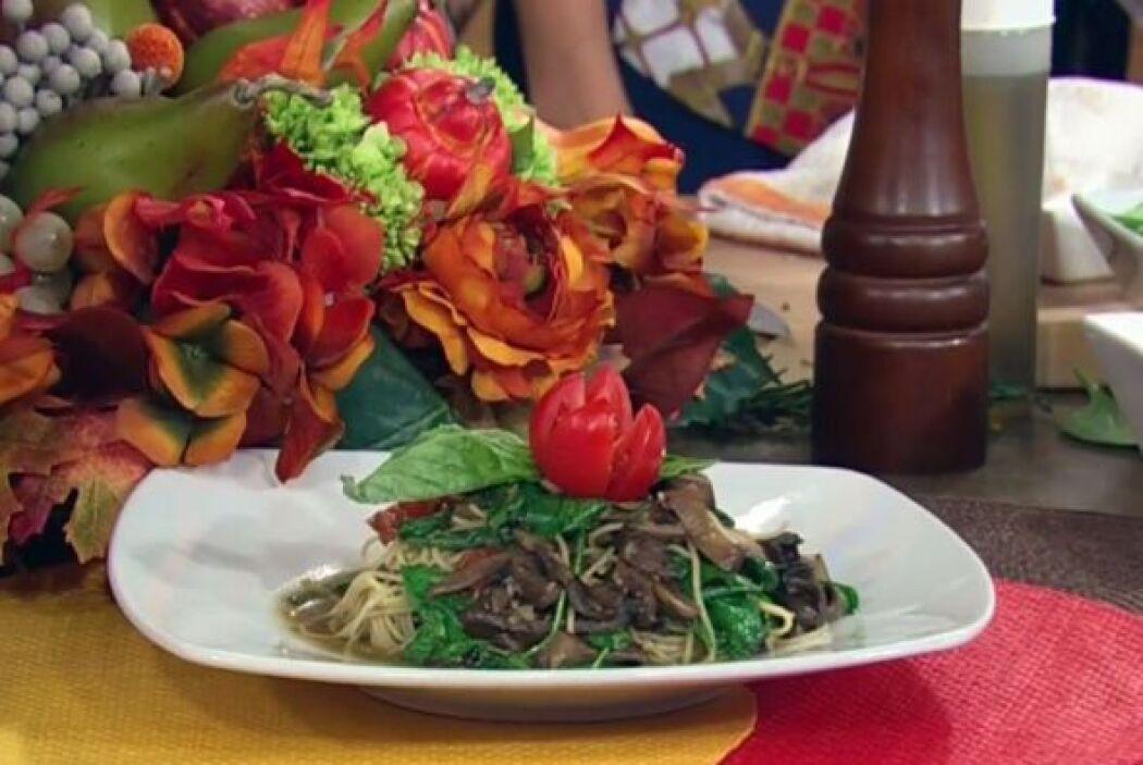 Receta de Pasta 'Cabello de Ángel', con champiñones Mira la deliciosa re...