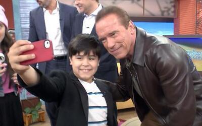 Arnold Schwarzenegger dio consejos de nutrición a Kevin