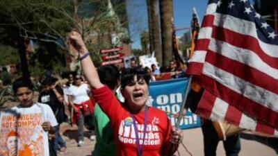 Inmigrantes abogan por reforma migratoria.