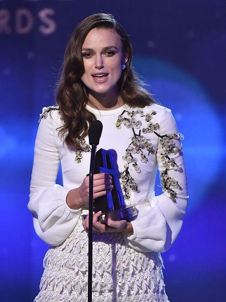 Keira Knightley también formó parte de la lista de ganador...