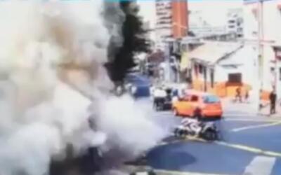 En video: el momento en el que ocurre la explosión en el centro de Bogotá