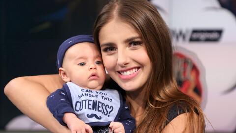Michelle Renaud y su bebé