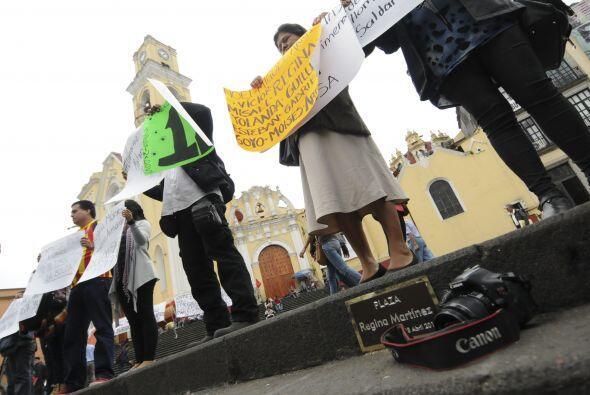 El pasado cinco de mayo, Rubén asistió a una manifestación en la Paza Re...