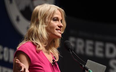 Kellyanne Conway en una conferencia conservadora en Carolina del Sur en...