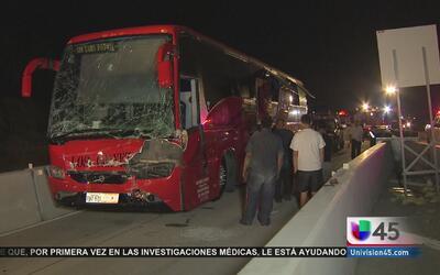 Varios heridos tras accidente de autobús de pasajeros