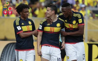 Colombia le pegó 2-0 a Ecuador