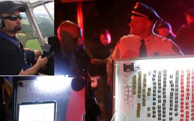 En el recuadro, el piloto fallecido William Gordon.