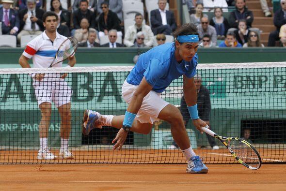 La 'Armada' en acción: Nuevamente el español Rafael Nadal...