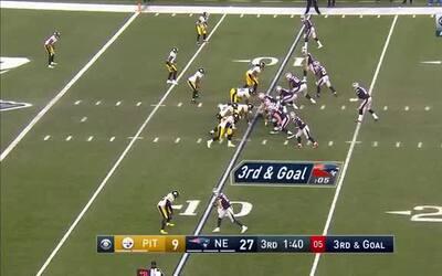 Pase de Brady a Edelman a las diagonales y los Patriots sentencian