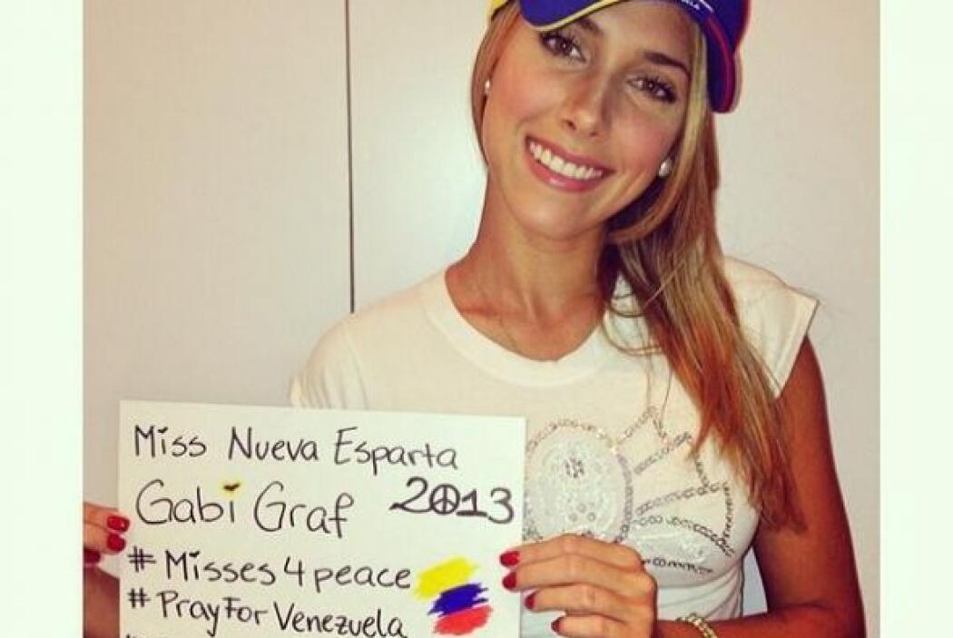 Gaby Graf, Miss Nueva Esparta 2013, se puso los colores venezolanos y pi...