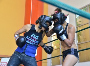 Mariana entrenó fuerte.