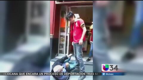 Empleado golpea brutalmente a un anciano