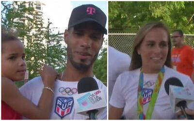 Sorprendidos Mónica Puig y Javier Culson con el cariño del pueblo