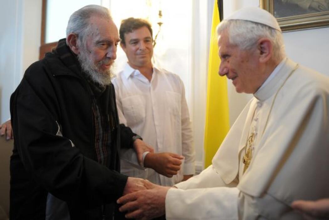 28 de marzo. El Papa Benedicto XVI se reúne en La Habana con Fidel Castr...