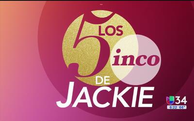 """¿De qué se trata el segmento """"Los 5 de Jackie""""?"""