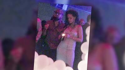 Leonardo DiCaprio muy cariñoso con Rihanna en su cumpleaños