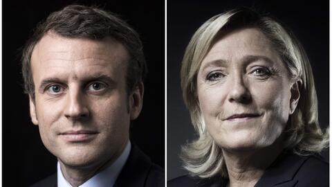 Emmanuel Macron y Marine Le Pen se enfrentarán en la segunda vuelta de l...