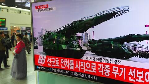 En video: Corea del Norte realiza una nueva prueba de misil desafiando a...