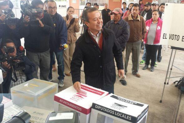 El presidente nacional del Partido Revolucionario Institucional (PRI), C...