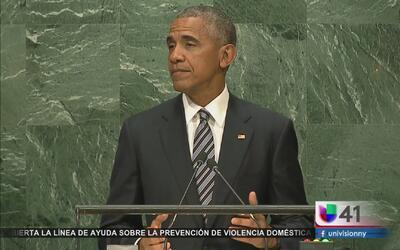 El presidente Barack Obama da su último discurso frente a la Asamblea Ge...