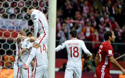 Polonia venció 2-1 a Armenia