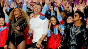 Coldplay, Beyoncé y Bruno Mars.