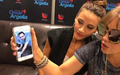 Thalia le mandó un mensaje a Omar después de ver el video que grabó
