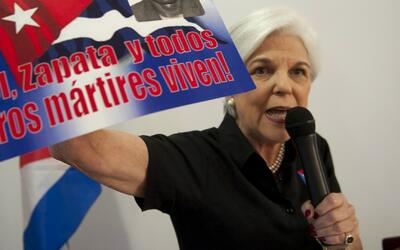 """Sylvia Iriondo en manifestación de la Pequeña Habana: """"Es un momento opo..."""